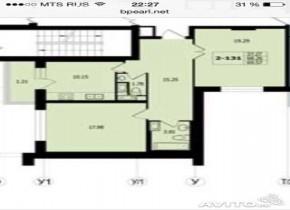 2-к квартира, 68 м²